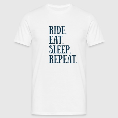 RIDE EAT SLEEP REPEAT - T-shirt Homme