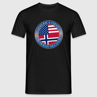 America First - Norway Second - T-shirt herr