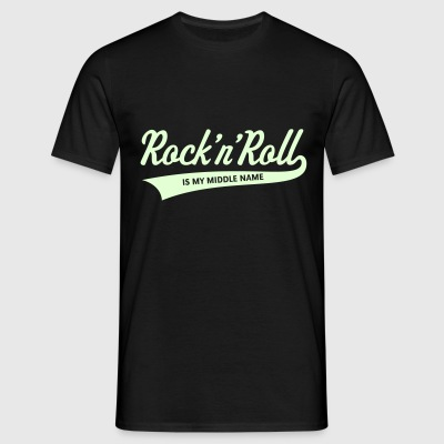 Rock 'n' Roll Is My Middle Name (1C) T-Shirts - Männer T-Shirt