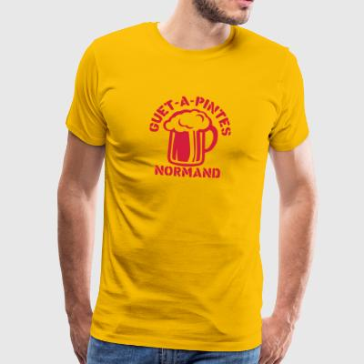 guet a pintes normand alcool humour bier Tee shirts - T-shirt Premium Homme