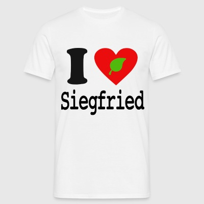 I Love Siegfried - T-shirt Homme Simple - T-shirt Homme