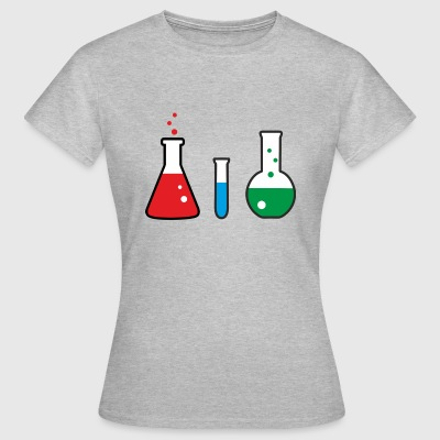 Laboratory flasks, science, chemistry Tee shirts - T-shirt Femme