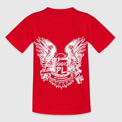 100% Poland T-Shirts - Kinder T-Shirt