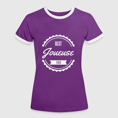 best joueuse player sport jeux Tee shirts - T-shirt contraste Femme