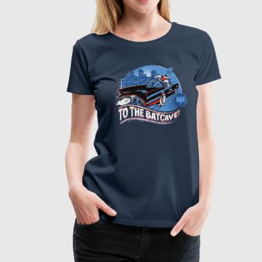 DC Comics Batman Robin Drive Batmobile Retro - Premium-T-shirt dam