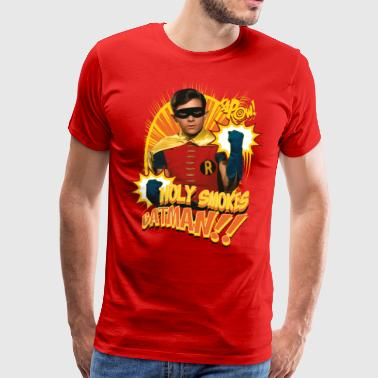 DC Comics Batman Robin Holy Smokes Quote - Miesten premium t-paita