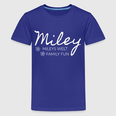 Mileys World Schrift Mileys Welt Family Fun - Teenager Premium T-Shirt
