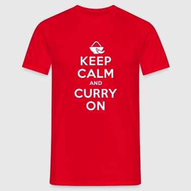 Keep calm and curry on T-shirts - T-shirt herr