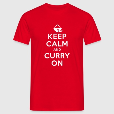 Keep calm and curry on Camisetas - Camiseta hombre