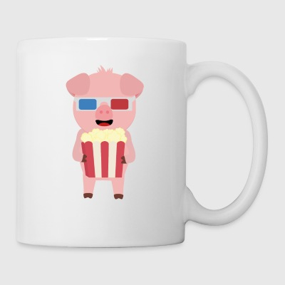 Cinema pig with popcorn Syllr design Mugs & Drinkware - Mug