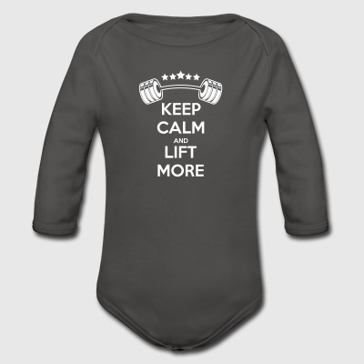 Gewichte Keep Calm Baby Bodys - Baby Bio-Langarm-Body