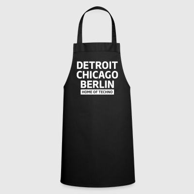 Detroit Chicago Berlin home of techno minimal Club Forklæder - Forklæde