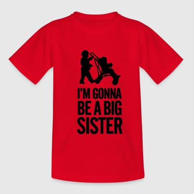 I'm gonna be a big sister baby car Camisetas - Camiseta niño
