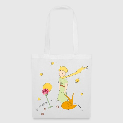 The Little Prince With Fox And Rose - Tote Bag