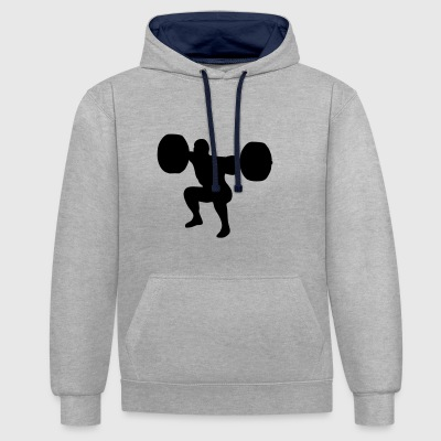 weightlifting, weightlifter, weight lifter Hoodies & Sweatshirts - Contrast Colour Hoodie