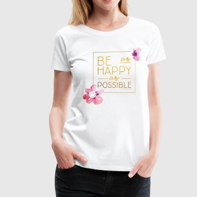 SmileyWorld Be Happy - Dame premium T-shirt
