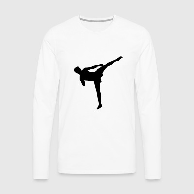 Kickboxing, Kickboxer, kick boxing Long sleeve shirts - Men's Premium Longsleeve Shirt