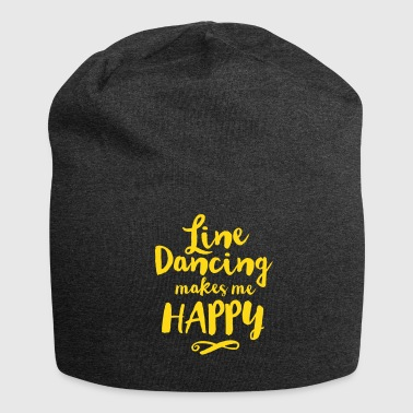 LINE DANCING MAKES ME HAPPY Caps & Hats - Jersey Beanie