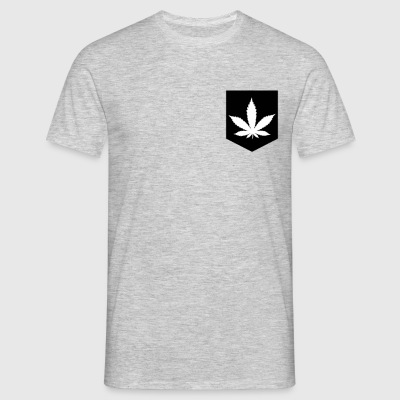 Pocket Marijuana Leaf T-Shirts - Men's T-Shirt