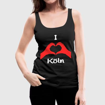 I Love Köln Tops - Frauen Premium Tank Top