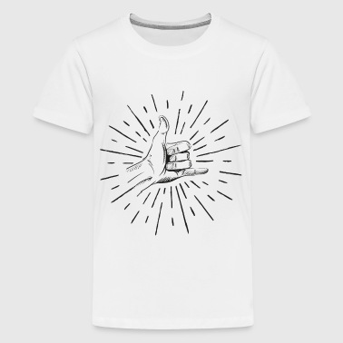 shaka hand surfing T-Shirts - Teenager Premium T-Shirt
