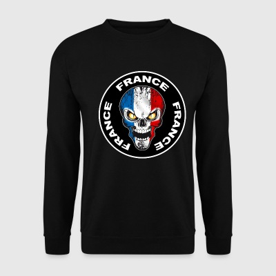 France Skull 06 Sweat-shirts - Sweat-shirt Homme