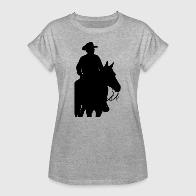 Cowboy and Horse T-Shirts - Frauen Oversize T-Shirt