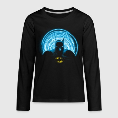 DC Comics Originals Batman Neon Outline - Premium langermet T-skjorte for tenåringer