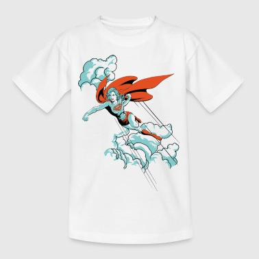 DC Comics Originals Supergirl Fliegt Wolken - Teenager T-Shirt