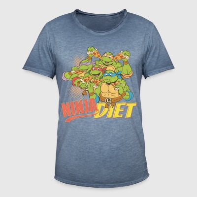TMNT Turtles Ninja Pizza Diet - Camiseta vintage hombre