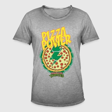 TMNT Turtles Pizza Power Shield - Vintage-T-shirt herr