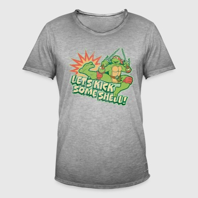 TMNT Turtles Raphael Spruch Kick Some Shell - Männer Vintage T-Shirt