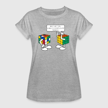 Rubik's Cube Complicate Things Blague Humour - T-shirt oversize Femme