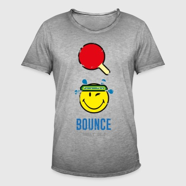 SmileyWorld Bounce Ping-Pong Raquette - T-shirt vintage Homme