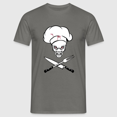 Cooking cook funny horror knife fork T-Shirts - Men's T-Shirt