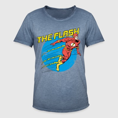 DC Comics Justice League The Flash - Männer Vintage T-Shirt