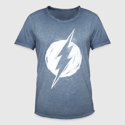 DC Comics Justice League The Flash Logo - Männer Vintage T-Shirt