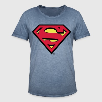DC Comics Superman Logo Original - Männer Vintage T-Shirt