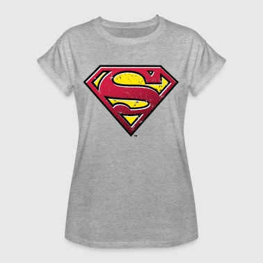 DC Comics Superman Logo Used Look - Frauen Oversize T-Shirt