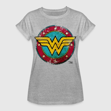 DC Comics Wonder Woman Logo Used Look - Frauen Oversize T-Shirt