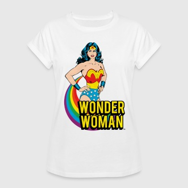 DC Comics Wonder Woman Regenbogen - Frauen Oversize T-Shirt