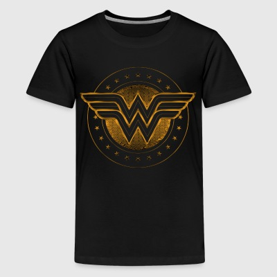 Wonder WOman Comic Logo gold - Teenager Premium T-Shirt
