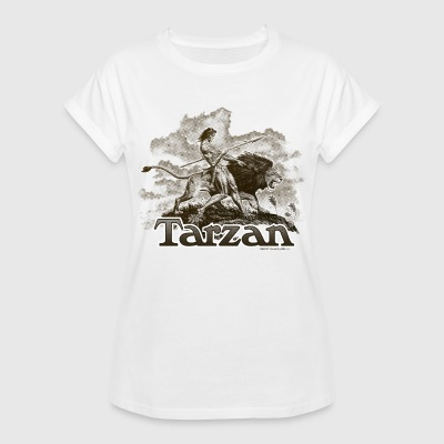 Tarzan Wild Lion Cool Drawing - Vrouwen oversize T-shirt