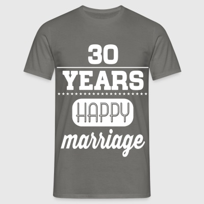 30 Years Happy Marriage T-Shirts - Männer T-Shirt