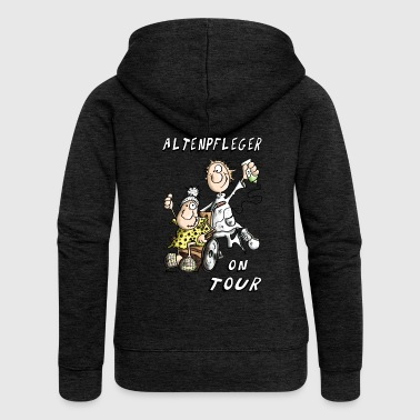 Altenpfleger on Tour Pullover & Hoodies - Frauen Premium Kapuzenjacke