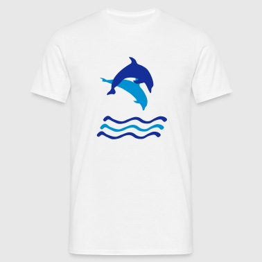Dolphins and Waves, Dolphin (super cheap!) T-Shirts - Men's T-Shirt
