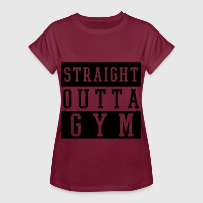 STRAIGHT OUTTA GYM T-Shirts - Frauen Oversize T-Shirt