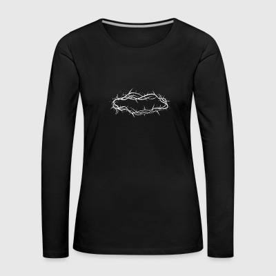 Drawing of a thorn crown Long Sleeve Shirts - Women's Premium Longsleeve Shirt
