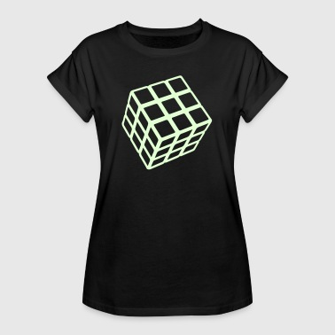 Rubik's Cube Glow In The Dark - Women's Oversize T-Shirt