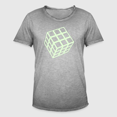 Rubik's Cube Glow In The Dark - Vintage-T-shirt herr